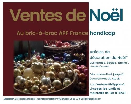 Ventes déco de Noël au Bric-à-brac à Limoges